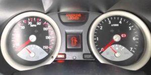 renault megane steering lock locked